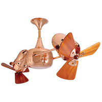 Duplo-Dinamico 36 inch Polished Copper with Mahogany Blades Ceiling Fan, Matthews-Gerbar