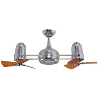 Dagny 41 inch Polished Chrome with Mahogany Tone Blades Ceiling Fan, Atlas