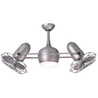 Matthews Fan Co DGLK-BN-MTL Dagny 40 inch Brushed Nickel Indoor-Outdoor Ceiling Fan