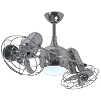 Atlas by Matthews Fan Company Dagny 2 Light Ceiling Fan in Polished Chrome with Polished Chrome Blades DGLK-CR-MTL