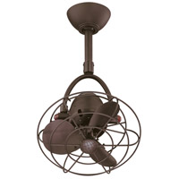 Matthews Fan Co DI-TB-MTL Diane 16 inch Textured Bronze with Textured Bronze Metal Blades Outdoor Ceiling Fan, Oscillating Directional