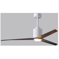 Matthews Fan Co EKLK-WH-WN Eliza-LK 56 inch Gloss White with Walnut Blades Indoor-Outdoor Ceiling Paddle Fan in Walnut Tone