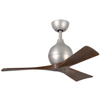 Irene 42 inch Brushed Nickel with Walnut Tone Blades Ceiling Fan, Atlas