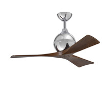 Irene 42 inch Polished Chrome with Walnut Tone Blades Ceiling Fan, Atlas