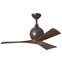 Irene 42 inch Textured Bronze with Walnut Tone Blades Ceiling Fan, Atlas