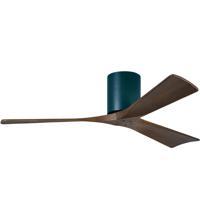 Matthews Fan Co IR3H-BK-WA-52 Irene-3H 52 inch Matte Black with Walnut Tone Blades Paddle Ceiling Fan Flush Mount