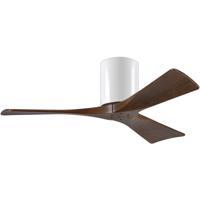 Matthews Fan Co IR3H-WH-WA-42 Irene-3H 42 inch Gloss White with Walnut Tone Blades Paddle Ceiling Fan Flush Mount