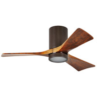 Matthews Fan Co IR3HLK-TB-WA-52 Irene-3HLK 52 inch Textured Bronze with Walnut Tone Blades Paddle Ceiling Fan Flush Mount