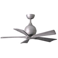Matthews Fan Co IR5-BN-BW-42 Irene-5 42 inch Brushed Nickel with Barn Wood Tone Blades Indoor-Outdoor Ceiling Paddle Fan