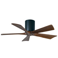 Irene 42 inch Matte Black with Walnut Tone Blades Ceiling Fan, Atlas
