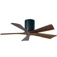 Matthews Fan Co IR5H-BK-WA-42 Irene-5H 42 inch Matte Black with Walnut Tone Blades Paddle Ceiling Fan Flush Mount