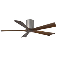 Matthews Fan Co IR5H-BN-WA-52 Irene-5H 52 inch Brushed Nickel with Walnut Stained Blades Indoor-Outdoor Ceiling Paddle Fan in Walnut Tone Flush