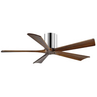 Irene 52 inch Polished Chrome with Walnut Tone Blades Ceiling Fan, Atlas