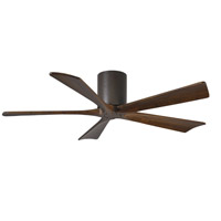 Matthews Fan Co IR5H-TB-WA-52 Irene-5H 52 inch Textured Bronze with Walnut Stained Blades Indoor-Outdoor Ceiling Paddle Fan in Walnut Tone Flush