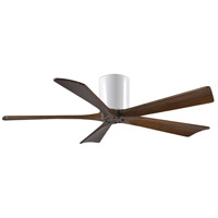 Irene 52 inch Gloss White with Walnut Tone Blades Ceiling Fan, Atlas