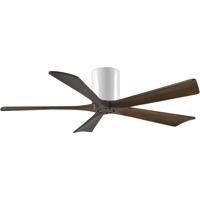 Matthews Fan Co IR5H-WH-WA-52 Irene-5H 52 inch Gloss White with Walnut Tone Blades Paddle Ceiling Fan Flush Mount
