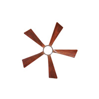 Irene 52 inch Brushed Nickel with Walnut Tone Blades Ceiling Fan, Atlas