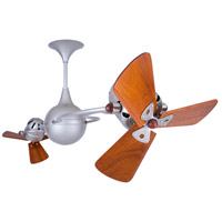 Italo Ventania 53 inch Brushed Nickel with Mahogany Blades Ceiling Fan, Matthews-Gerbar