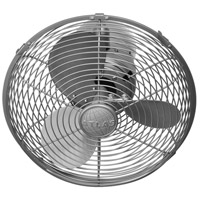 Matthews Fan Co KC-BN Kaye 27 inch Brushed Nickel Outdoor Wall Fan, Oscillating