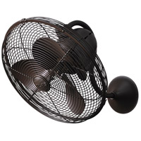 Matthews Fan Co LL-TB Laura 16 inch Textured Bronze Indoor-Outdoor Wall Fan