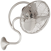 Matthews Fan Co ME-BN Melody 27 inch Brushed Nickel Outdoor Wall Fan, Oscillating