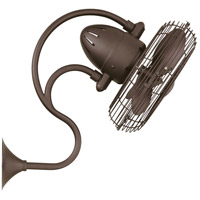 Matthews Fan Co ME-TB Melody 27 inch Textured Bronze Outdoor Wall Fan, Oscillating