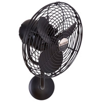 Matthews Fan Co MP-BK-MTL Michelle Parede 16 inch Matte Black Outdoor Wall Fan, Directional