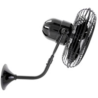 Michelle Parede 16 inch Black Nickel Outdoor Wall Fan, Directional