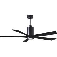 Matthews Fan Co PA5-BK-BK-60 Patricia 60 inch Matte Black Ceiling Fan Atlas