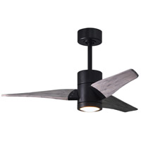 Matthews Fan Co SJ-BK-BW-42 Super Janet 42 inch Matte Black with Barn Wood Tone Blades Indoor-Outdoor Ceiling Paddle Fan