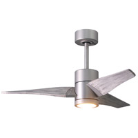 Matthews Fan Co SJ-BN-BW-42 Super Janet 42 inch Brushed Nickel with Barn Wood Tone Blades Indoor-Outdoor Ceiling Paddle Fan