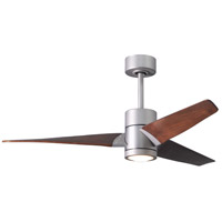 Matthews Fan Co SJ-BN-WN-52 Super Janet 52 inch Brushed Nickel with Walnut Tone Blades Ceiling Fan Atlas