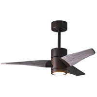 Matthews Fan Co SJ-TB-BW-42 Super Janet 42 inch Textured Bronze with Barn Wood Tone Blades Indoor-Outdoor Ceiling Paddle Fan