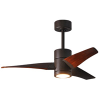 Matthews Fan Co SJ-TB-WN-42 Super Janet 42 inch Textured Bronze with Walnut Stained Blades Indoor-Outdoor Ceiling Paddle Fan in Walnut Tone