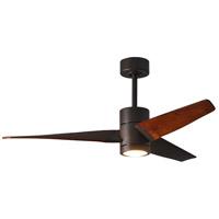 Matthews Fan Co SJ-TB-WN-52 Atlas Super Janet 52 inch Textured Bronze with Walnut Tone Blades Ceiling Fan Atlas