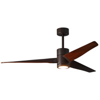 Matthews Fan Co SJ-TB-WN-60 Super Janet 60 inch Textured Bronze with Walnut Stained Blades Indoor-Outdoor Ceiling Paddle Fan in Walnut Tone