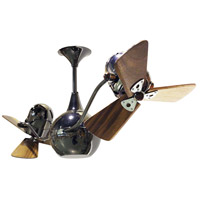 Vent-Bettina 42 inch Black Nickel with Mahogany Blades Ceiling Fan, Matthews-Gerbar