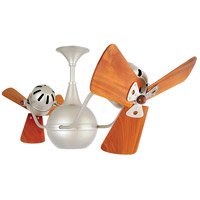 Vent-Bettina 42 inch Brushed Nickel with Mahogany Blades Ceiling Fan, Matthews-Gerbar