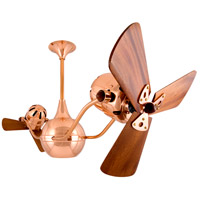 Vent-Bettina 42 inch Polished Copper with Mahogany Blades Ceiling Fan, Matthews-Gerbar