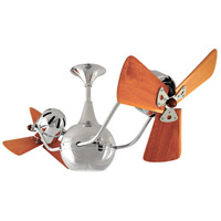 Vent-Bettina 42 inch Polished Chrome with Mahogany Blades Ceiling Fan, Matthews-Gerbar