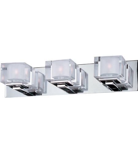 Maxim Lighting Cubic 3 Light Bath Light in Polished Chrome 10003CLPC photo