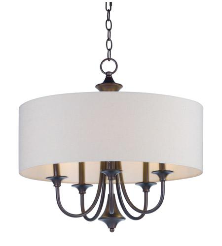 Maxim 10015OMOI Bongo 5 Light 22 Inch Oil Rubbed Bronze Multi Light Pendant  Ceiling Light