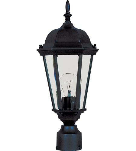 Maxim 1001BK Westlake 1 Light 19 inch Black Outdoor Pole/Post Lantern photo