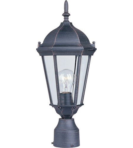 Maxim Lighting Westlake 1 Light Outdoor Pole/Post Lantern in Rust Patina 1001RP photo