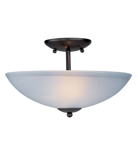 Maxim 10042FTOI Logan 2 Light 13 inch Oil Rubbed Bronze Semi Flush Mount Ceiling Light photo