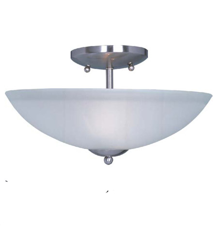 Maxim 10042FTSN Logan 2 Light 13 inch Satin Nickel Semi Flush Mount Ceiling Light photo thumbnail