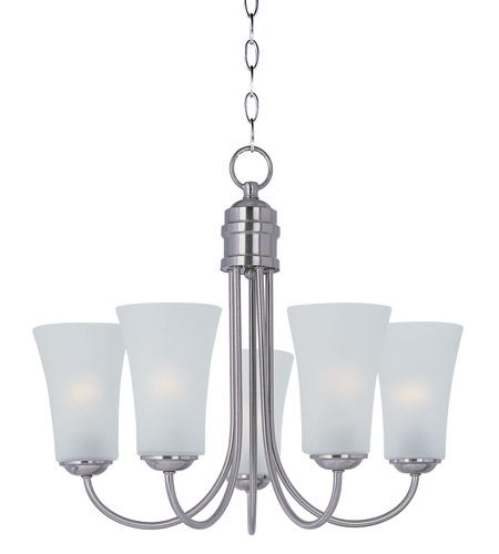 Maxim 10045ftsn logan 1 light 20 inch satin nickel chandelier maxim 10045ftsn logan 1 light 20 inch satin nickel chandelier ceiling light aloadofball Images