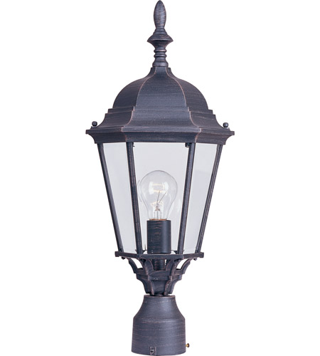 Maxim 1005RP Westlake 1 Light 22 inch Rust Patina Outdoor Pole/Post Lantern photo