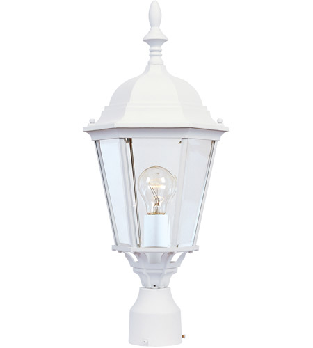 Maxim 1005WT Westlake 1 Light 22 inch White Outdoor Pole/Post Lantern photo