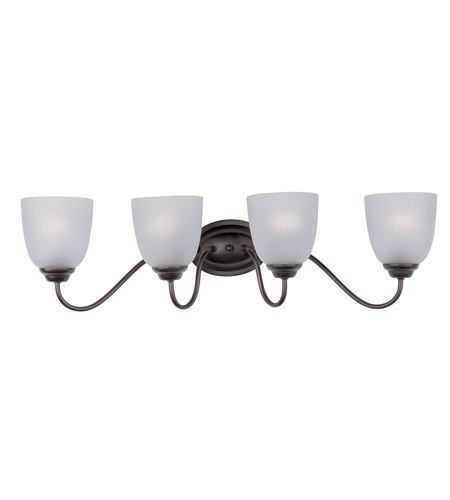 affordable bathroom lighting maxim 10074ftoi stefan 4 light 30 inch rubbed bronze 10074